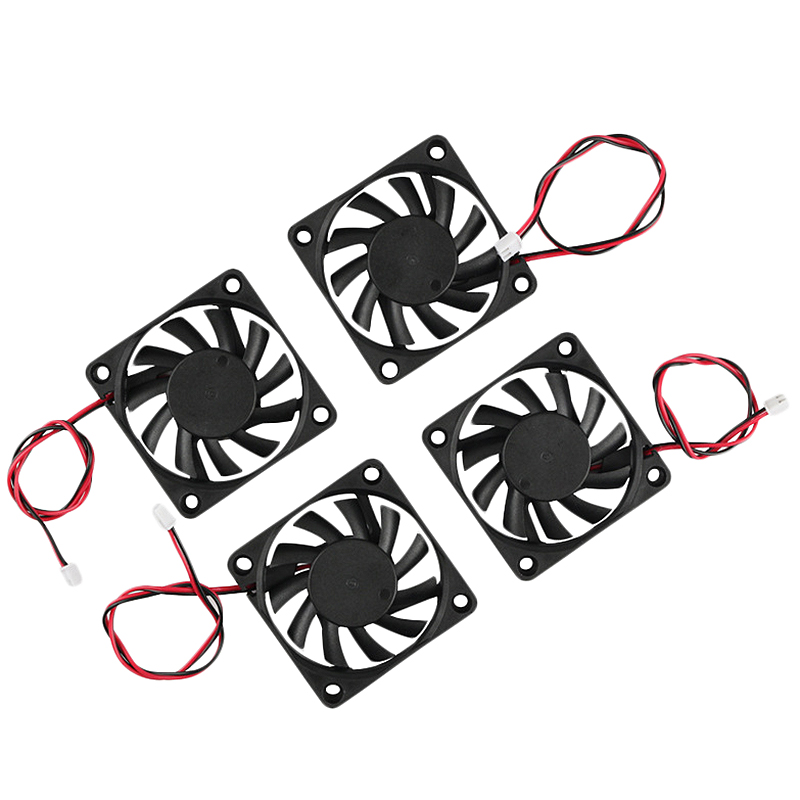3D Printer Accessories 6010 24V Extruder Oil Bearing Cooling Fan 4Pcs For 3D Printer, Engraving Machine,Cutting Machine