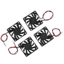 3D Accessori per Stampanti 6010 24V Estrusore Olio Cuscinetto Ventola di Raffreddamento 4Pcs per 3D Stampante, Macchina per Incisione, macchina di Taglio
