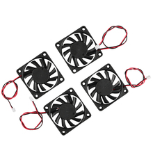 3D Printer Accessories 6010 24V Extruder Oil Bearing Cooling Fan 4Pcs For Printer, Engraving Machine,Cutting Machine