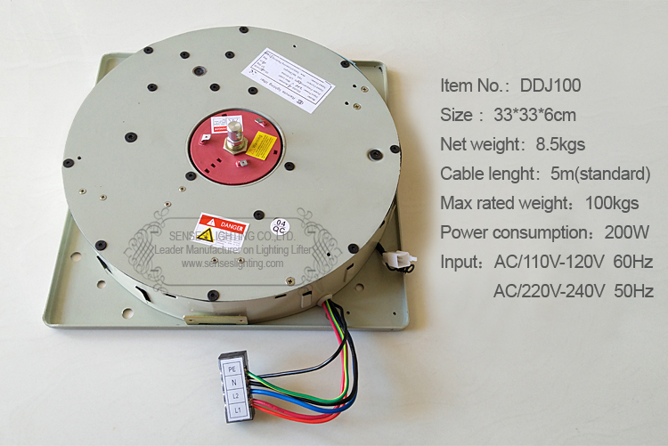 100KG 5M automatski daljinski upravljani kristalni luster sustav - Različiti rasvjetni pribor - Foto 2