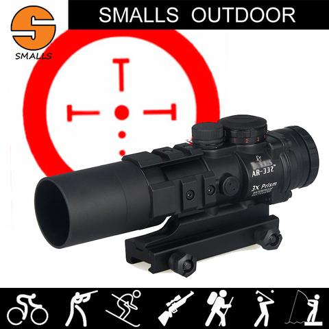 airsoft tatico optica rifle scope burris ar 332 3x prisma vermelho ponto vista com balistico