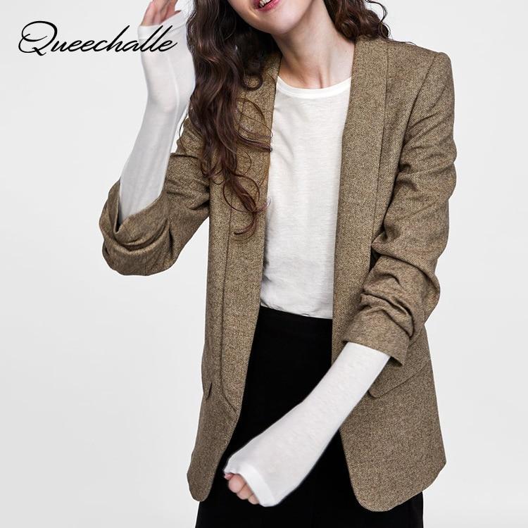 Anzüge & Sets Beliebte Marke Herbst Winter Anzug Blazer Frauen Kerb Kragen Dünnes Formales Jacke Mantel Khaki Büro Dame Langarm Blazer Oberbekleidung Xs S M L Neueste Technik