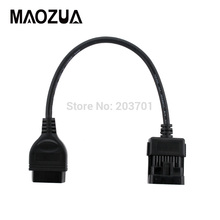 OBD2 Cable for Opel 10Pin socket to OBD-ii 16PIN Diagnostic Connector All Free Shipping