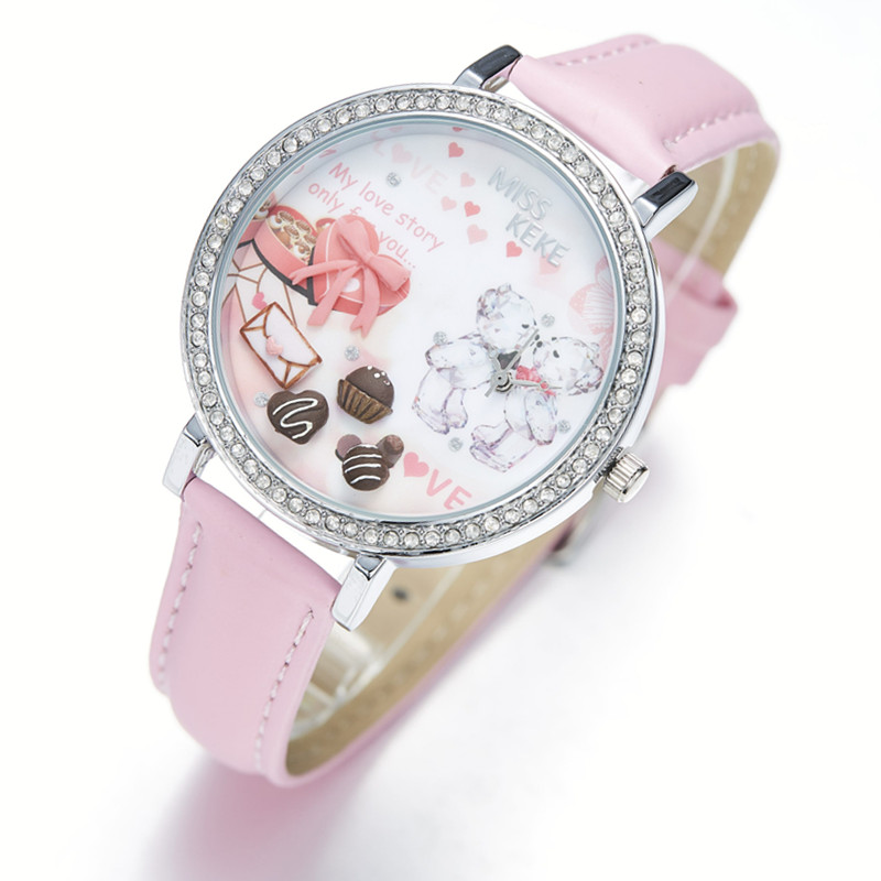 Relojes Mujer Miss Keke 3d Clay Leuke Mini Wereld Strass Horloges - Dameshorloges - Foto 2