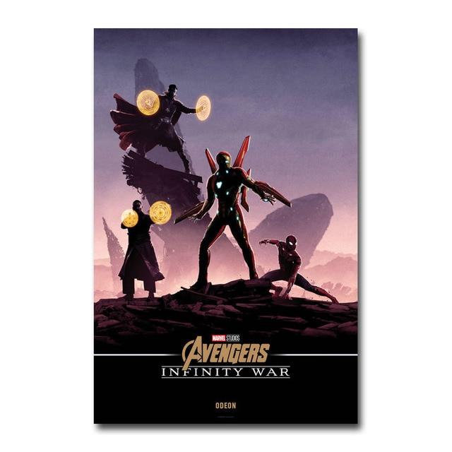 Плакат гобелен Мстители:Бесконечная война материал Шелк