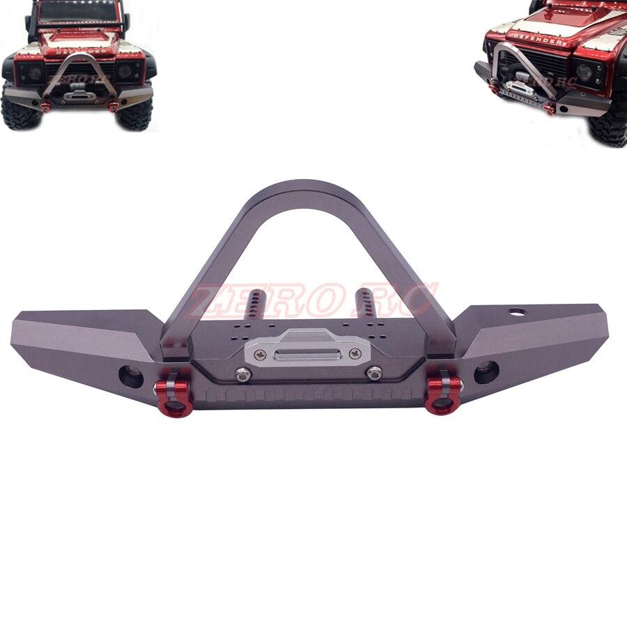 Front CNC Aluminum Front Winch Bumper Set for 1//10 RC Crawler Traxxas TRX-4