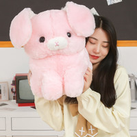 Angora Rabbit Plush Toy Cute Rabbit Soft Stuffed Doll Pink and White Rabbit Doll 43cm 52cm Size Gift For Grils And Kids Gift