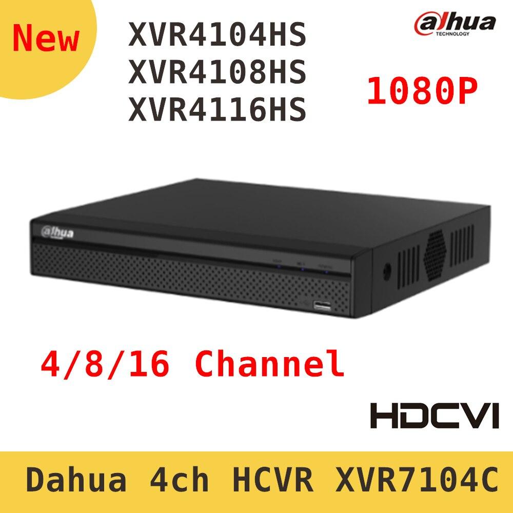 Original Dahua XVR video recorder XVR4104HS XVR4108HS XVR4116HS 4ch 8ch 16ch 1080P Support HDCVI/ AHD/TVI/CVBS/IP Camera