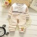 Bibicola 2016 recién nacido bebé niños niñas ropa de manga larga de la historieta cabritos del mono del mameluco del otoño invierno ropa de abrigo mother nest