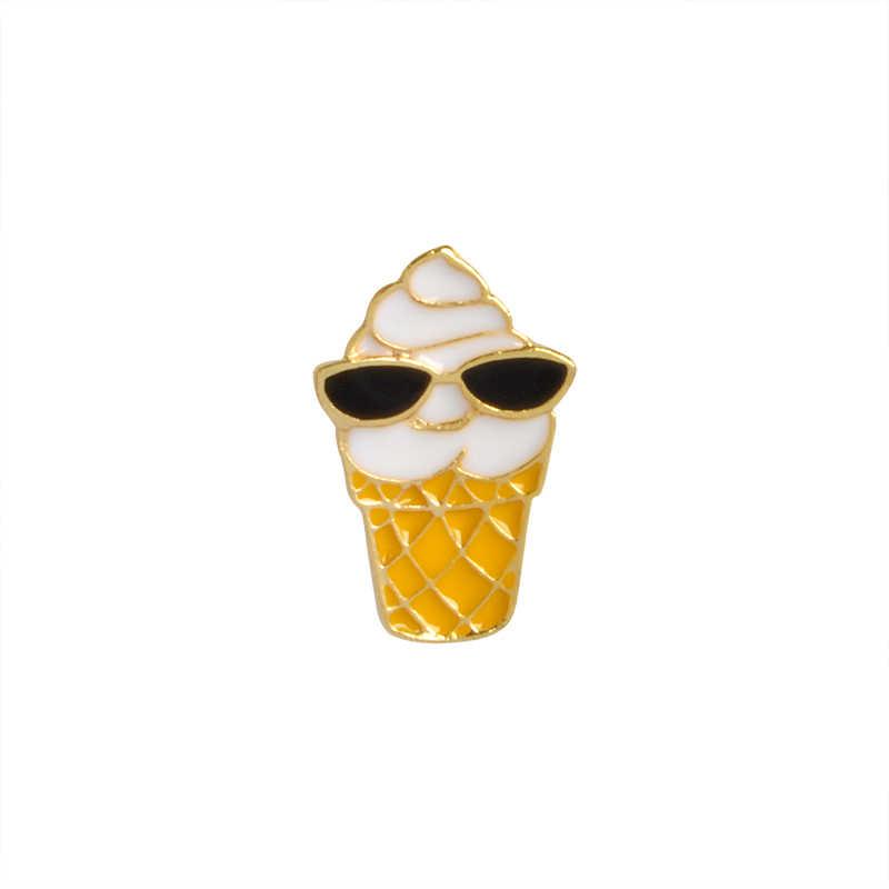 Cartone animato di ghiaccio crema di Smalto Spille Spilla da dessert bevanda fredda Giacca di Jeans Risvolto Spille Cappotto distintivo Gioelleria raffinata e alla moda per i bambini della ragazza figlia
