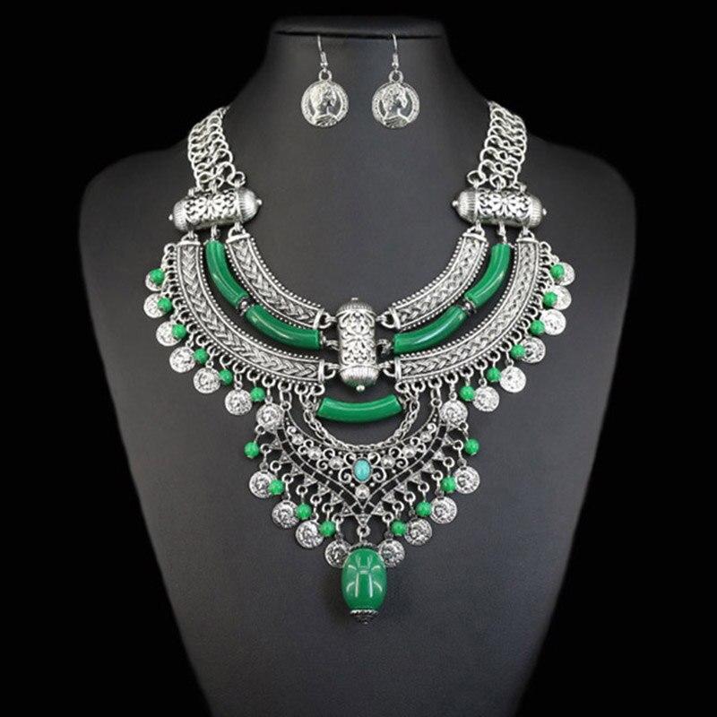 цена на JIANXI Necklace&Pendant Fashion Brand jewelry set colorful earring New Design National Style Bohemian Boho Jewelry