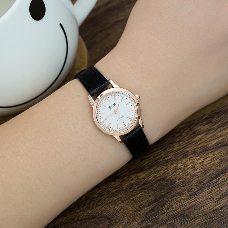 Дух колледжа для девочек часы корейской версии прилив женский простой и щедрый водонепроницаемый новый маленький часы женские