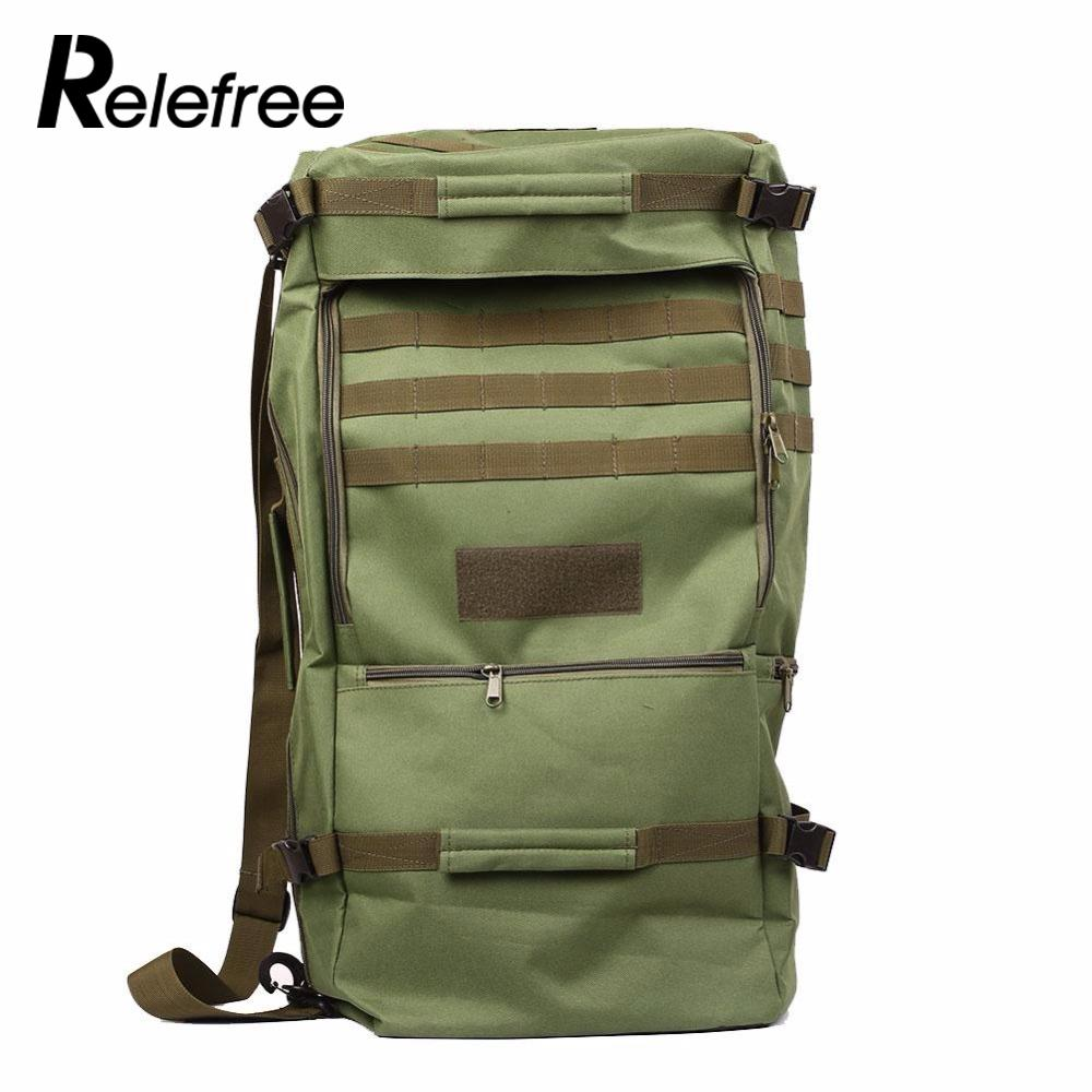Relefree 50L Army Outdoor Military Tactical Backpack Camping Hiking Rifle Bag Trekking Sport Travel Rucksacks Climbing Bags usmc army men women outdoor military tactical backpack camping hiking rifle bag trekking sport travel rucksacks hunting bags