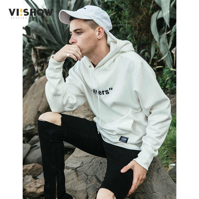 VIISHOW Nieuwe Sudaderas Hombre Mannelijke Brief Gedrukt Hoodie Sweatshirt Heren Moletom Masculino Hoodies Legergroen Trainingspak WD2235173