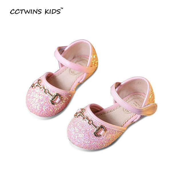 CCTWINS CRIANÇAS primavera outono criança brilho princesa sapatos para crianças moda flats partido do bebê da dança do bailado da menina de couro pu