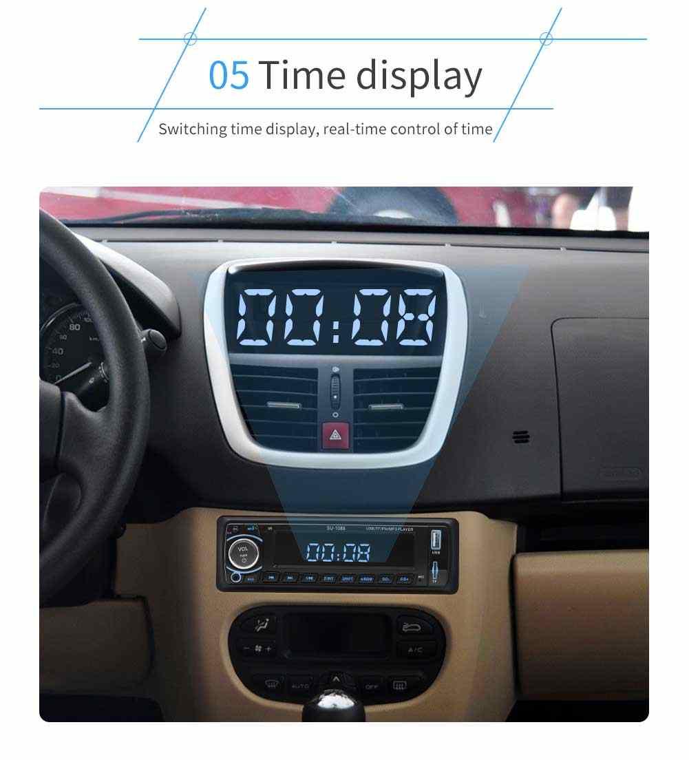 12 V 1din Autoradio Bluetooth カーステレオラジオ MP3 プレーヤーサポート BT/FM/USB/SD リモコンハンズフリー通話時間表示