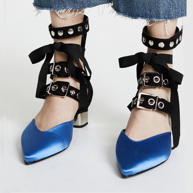 Shoes Women Fashion Brand Ankle Straps Sandals zapatillas mujer Summer Pointed-toe chaussures femme Sexy Lady footware RivetsShoes Women Fashion Brand Ankle Straps Sandals zapatillas mujer Summer Pointed-toe chaussures femme Sexy Lady footware Rivets