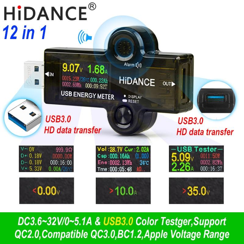 12 in 1 USB tester DC Digital voltmeter amperímetro strom spannung meter amp volt amperemeter detektor power bank ladegerät anzeige