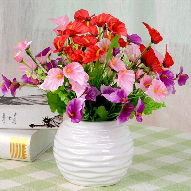 Artificial Flores De Seda Calla Ramo de Flores de Novia Weeding Decoración Sala