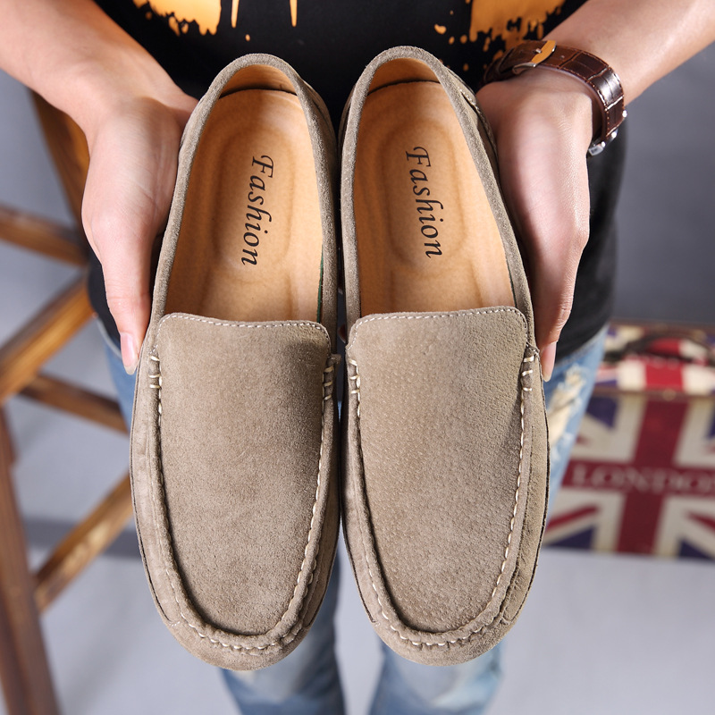 Mocassin Homme 2018 Men Loafers Genuine Leather Casual Shoes Fashion Slip on Driving Shoes Breathable Suede Loafers Size 38-44 цены онлайн