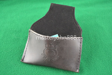 Pool Billiards Snooker Leather Chalk Bag Case Holder With Clip Free Shipping Wholesales