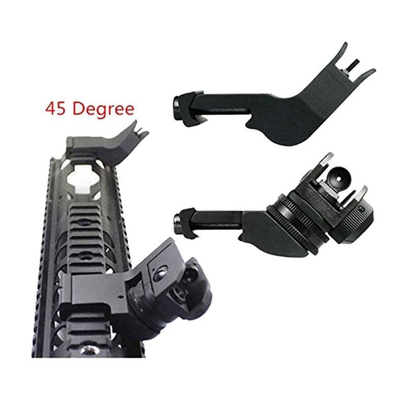 AR15 AR Transition Backup Iron Sight Rapid Rifle RTS Sight 2018 New 15  AR-15 Front Rear Sight 45 Degree Offset Rapid