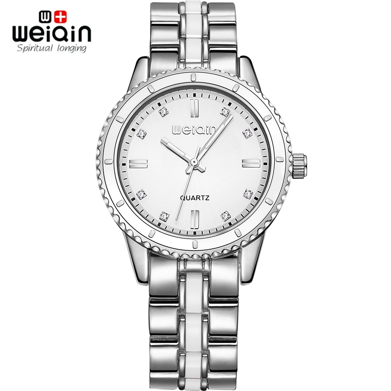 WEIQIN Silver Women Watches Luxury High Quality Water Resistant Montre Femme Stainless Steel 2017 Dress Woman Wrist Watches gold weiqin black clock women watches luxury brand high quality montre femme stainless steel 2017 dress woman wrist quartz watches