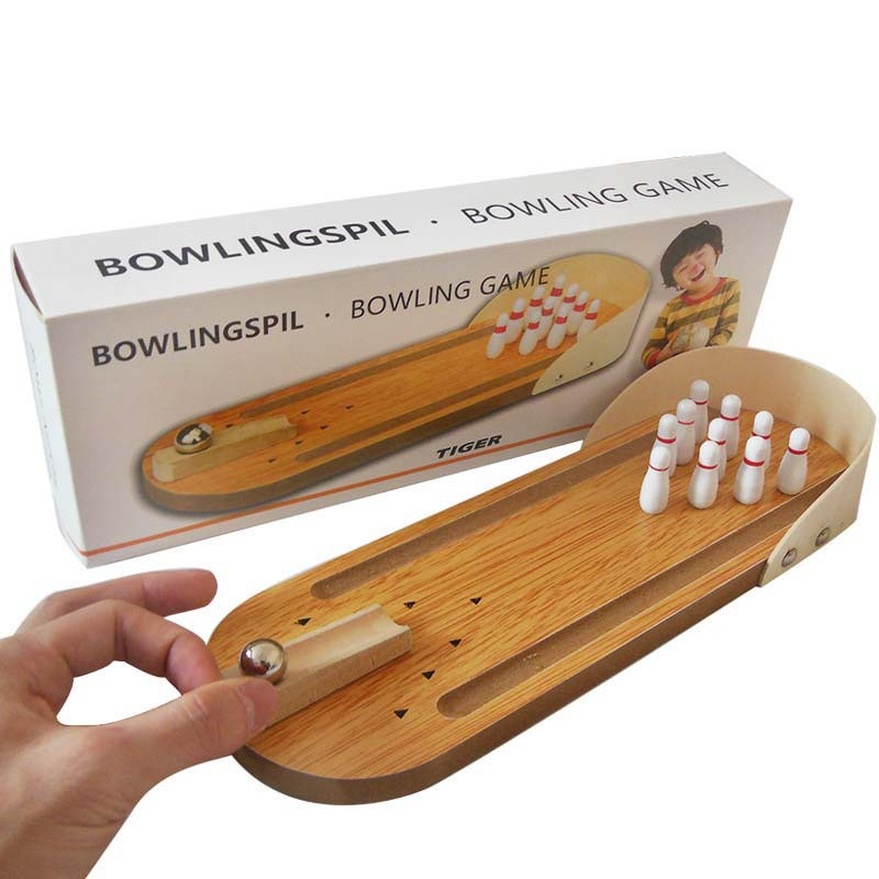 Wooden Mini Bowling Parent-Child Interactive Desktop Game Children's Table Game Toys Rolling Ball Game floor party puzzle games