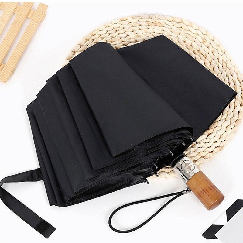 Полностью автоматические складные зонты бытовые товары первой необходимости три сложения компактный сильный дождевик Бесплатная доставка Распродажа 3