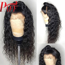 PAFF Loose Wave Lace Front Human Hair Wig with Baby Hair 130-180% Density 12-34 inch Remy Hair Wig Natural Color Free Part цена