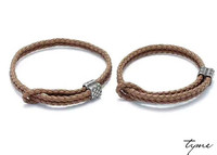 Leather bracelet for men and women leather bracelets Tyme Carter lovers bracelets & bangles for women H Bangle Jewelry