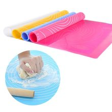 купить 1PC Silicone  Household Baking Mat Kitchen Tool Accessories Kneading Pad Surface Mat Large Anti Slip Rolling Plate Silica Pad дешево