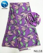 LIULANZHI African Silk wax fabric 2019 ankara silk multicolor print high quality new arrival  NLL01-19