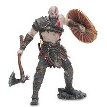 """18cm NECA oyuncaklar oyunu God of War 4 Kratos PVC Action Figure Sparta Kratos of Ghost koleksiyon Model bebek oyuncak 7 """"ölçek"""