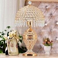 Table Lamp Lamps Crystal For Living Room Modern Bedroom Bedside Luxury Romantic European Art Desk Room Light Lighting Fixtures