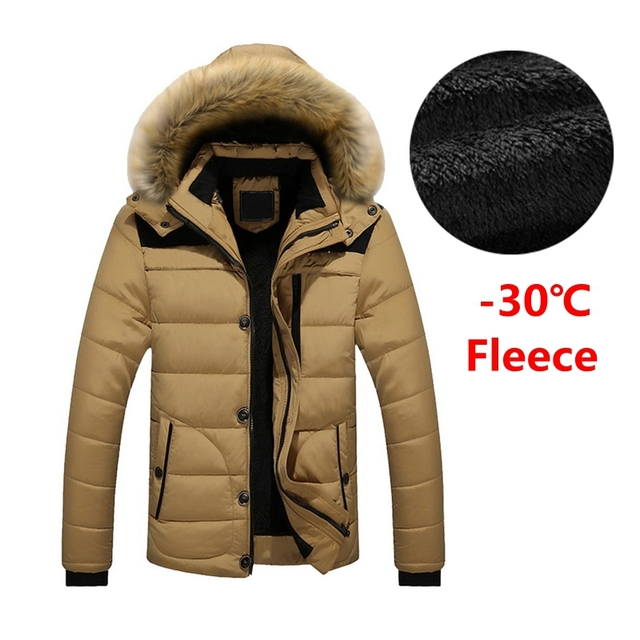 736a9672d5c Laamei Men Winter Parkas Long Thick Cotton Fleece Jacket Coat Mens Hooded  Pockets Outwear Jacket Parka Men 6XL Plus Size