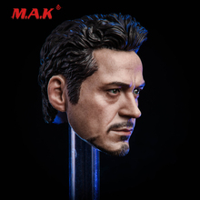 цена на New 1:6 Scale Male Head Sculpt MK5 Tony 2.0 Head Carved Model Toys Normal/Damaged Version fit 12