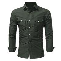 Men S Shirt Men S Casual Shirt Solid Long Sleeve Shirt Working Shirt