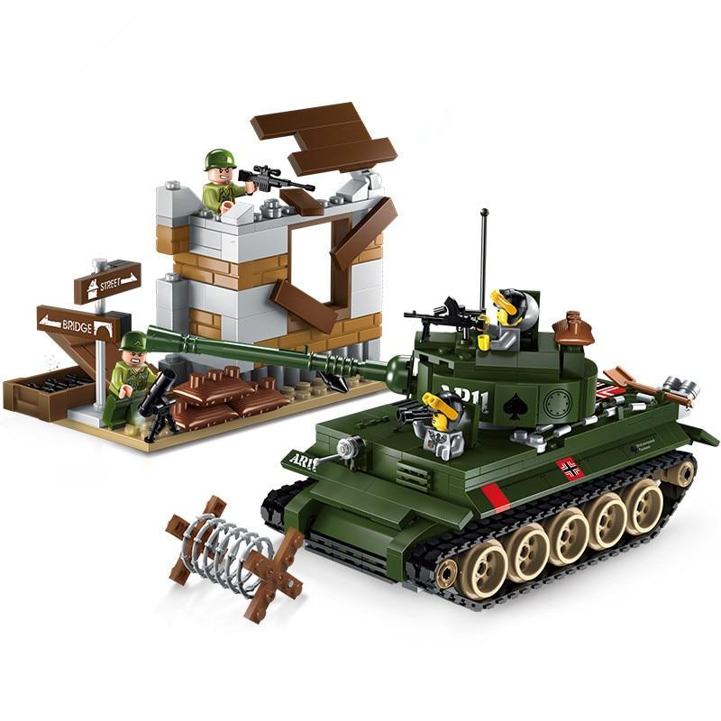 Cidade Militar Tigre tanque de Guerra Contra Atacar exercícios Legoings Building Blocks Define Bricks Modelo Crianças Brinquedos Compatível