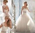 2015 corsé desmontables diamond marfil blanca formal de los granos del cristal vestidos 2016 vestido de novia más el tamaño elegante venta al por mayor