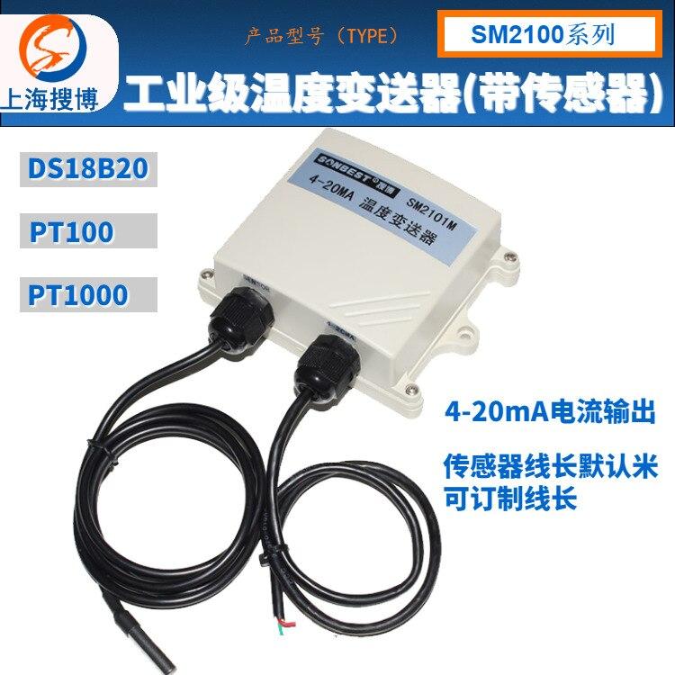 PT100 PT1000 platine résistance DS18B20 température actuelle émetteur 20mA capteur sonde SM2100M commutateur