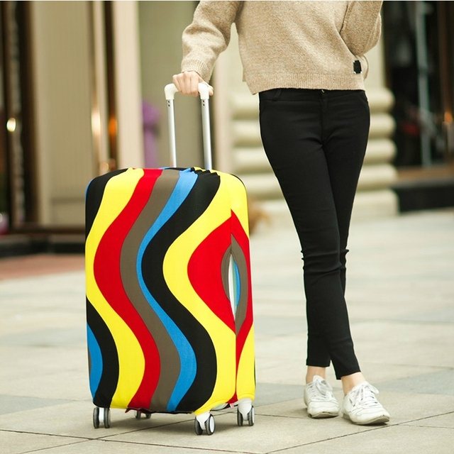 Travel Luggage Suitcase Protective Cover, Stretch Dustproof Protective Cover,Suitcase Cover Apply to 18-30inch Cases,Z-114