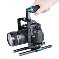 Aluminum Alloy Handheld DSLR Camerea Cage Rig Photographic Camera Low Shot Equipment Grip for Canon Nikon Sony Camera Cage