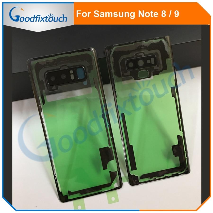 For Samsung Note 8 N8 Note8 N950 N950F Note 9 N9 Note9 N9600 N960F 3D Transparent Glass Back Housing Battery Cover Rear Door