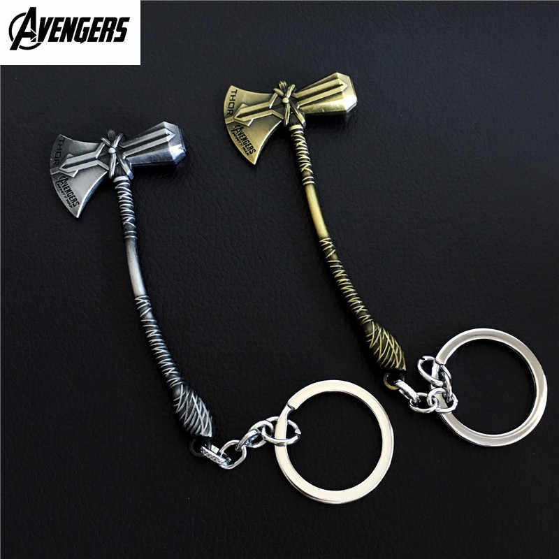 Avengers Infinity Guerra Thor Stormbreaker Keychain Figura Cosplay Thor Ascia Martello Accessori Della Catena Chiave Figura Giocattoli Bambola