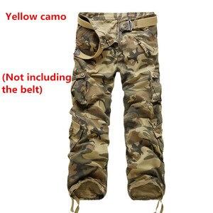 Image 2 - 9 colors Mens Quân Quân Ngụy Trang Quần Cargo Multi Quần pocket Quan Hệ Nhân Quả Straight Dài Baggy Loose tactical quần hàng quần (không Dây)