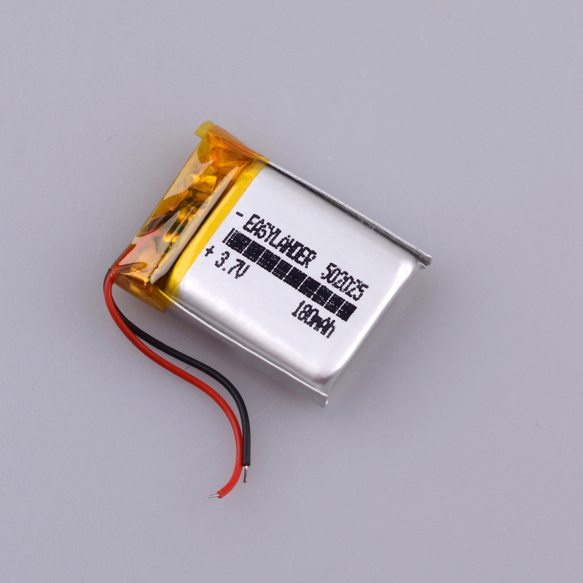 <font><b>502025</b></font> 3.7V 180mAh Lithium Polymer <font><b>Battery</b></font> For Bluetooth Headset Mouse Bracelet Wrist Watch 052025 GPS Tracker MP3 MP4 image