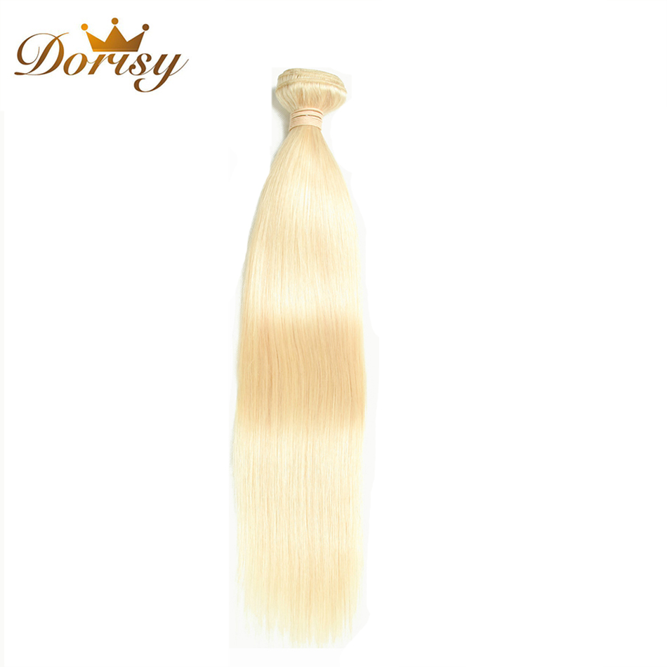 Dorisy Hair 613 Blonde Peruvian Hair Weave Bundles 10-24 Inch 1 Pcs Remy Straight 100% Human Hair Extensions Free Shipping