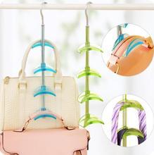 Brief Rotating Multi-purpose Bag Rack Package Linked Hook Tie Strap Scarf Storage Rack