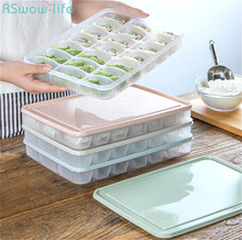 Kitchen Dumpling Preservation Box With Cover PP Food Receiving Quick-Frozen Refrigerator Tray Ice